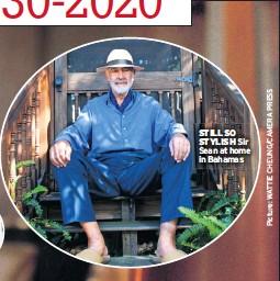 ??  ?? STILL SO STYLISH Sir Sean at home in Bahamas