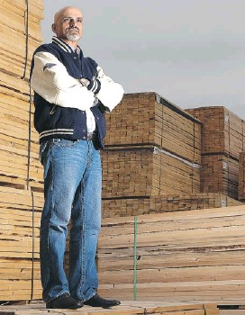 ?? BEN NELMS FOR NATIONAL POST ?? Parm Jhajj of Surrey, BC.-based Jhajj Lumber says he predicts his business will get a boost from selling to India after completing a small trial order with the nation.