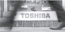 ?? BLOOMBERG FILE PHOTO ?? Toshiba faces a bleak future after losing a jaw-dropping $4.8 billion over the first nine months of its fiscal year.