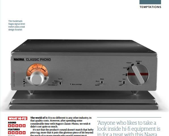 ??  ?? The trademark Nagra signal-level meter adds a neat design flourish
