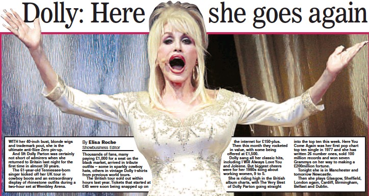 cb7f3a90f88d4 PressReader - Daily Express  2007-03-20 - Dolly  Here she goes again