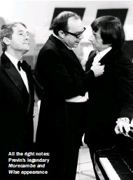 ??  ?? All the right notes: Previn's legendary Morecambe and Wise appearance