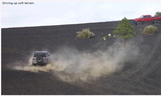 ??  ?? Driving up soft terrain.
