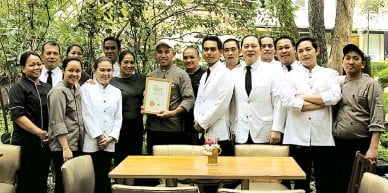 ??  ?? TEAM FORES Asia's best fe­male chef Mar­garita Fores with her team from Lusso