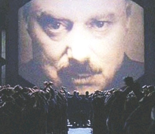"?? Norsta r Releasing handout ?? A still from the film adaptation of the celebrated George Orwell fictional work 1984. In Orwell's dystopian world, degradatio­n of language was intended to render independen­t thought impossible by ""about 2050."""