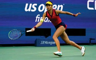 ?? (AP) ?? Her forehand side is arguab l y her weaker, but opponents fai l ed to exp l oit it
