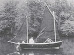??  ?? Katharine Mary, the original Drascombe Lugger from 1966, and right, at the Weymouth rally