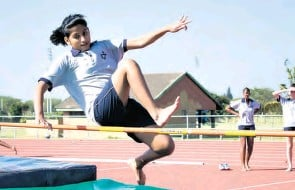 ?? Alida Campbell ?? Arti Singh tries to fly high