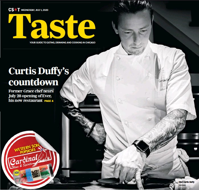?? PROVIDED ?? Chef Curtis Duffy