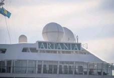 ??  ?? Artania skulle senare under dagen fortsätta sin resa längs Gullmarsfjorden.