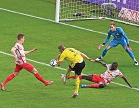 ?? IMAGO ?? Dortmund-Star Haaland erzielt den Treffer zum 2:0.