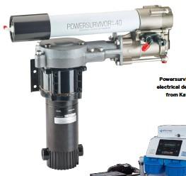 ??  ?? Powersurvivor 40E electrical desalinator from Katadyn