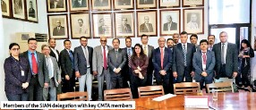 ??  ?? Members of the SIAM delegation with key CMTA members