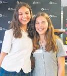 ??  ?? Katikati College Year 12 students Sofia House and Charlotte Schnackenberg.