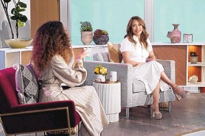 """?? MONTY BRINTON/ CBS ?? Elaine Welteroth, left, and Carrie Ann Inaba on """"The Talk."""""""