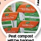 ??  ?? Peat compost will be banned