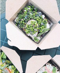?? AVLING PHOTOS ?? Left: The rooftop bounty lets Avling's kitchen benefit from the freshest peas, herbs and other produce.