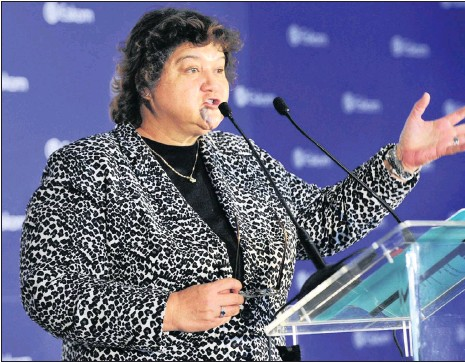 """?? PHOTO: HENK KRUGER ?? Public Enterprises Minister Lynne Brown on Friday said Molefe was an innocent man. """"He must be seen as innocent until he is proven guilty,"""" she said."""