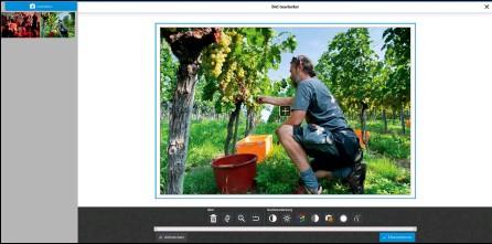 ??  ?? Im Browser kann man nicht nur den Bildausschnitt auswählen, sondern das Foto auch gleich korrigieren. Die Bildoptimierung deaktiviert man dagegen …