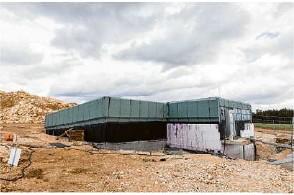 ?? Foto: Markus Sontheimer ?? Die Bauarbeiten am Wasserhochbehälter in Stötten liegen im Zeitplan.