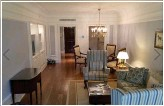 ??  ?? palatial: The suite's drawing room and, below, one of the two bathrooms
