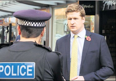 ??  ?? Kent Police and Crime Commissioner Matthew Scott says the force needs an extra cash boost to deal with a number of issues, including Covid