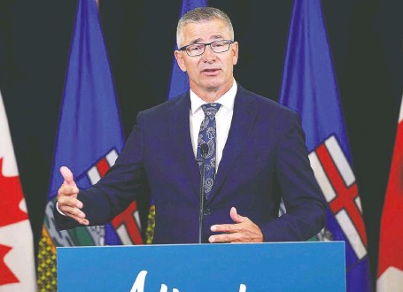 ?? GREG SOUTHAM ?? Finance Minister Travis Toews said he expects a timeline and plan to balance the budget could be announced with the 2022 budget.