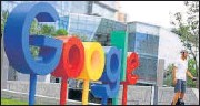 ?? REUTERS ?? Google had an impression score of 62.3.