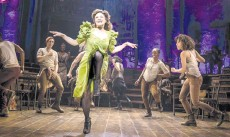 """?? — AFP photo ?? Amber Gray and the Broadway cast of """"Hadestown."""
