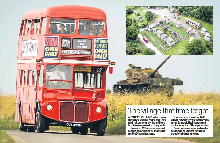 """??  ?? A """"GHOST VILLAGE"""" which was deserted during World War Two and taken over by the military has been opened to the public. Imber, in Wiltshire, is normally closed to civilians as it acts as an MoD training zone. It was abandoned in 1943 when villagers..."""