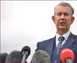 ??  ?? Edwin Poots lasted just 21 days as DUP leader
