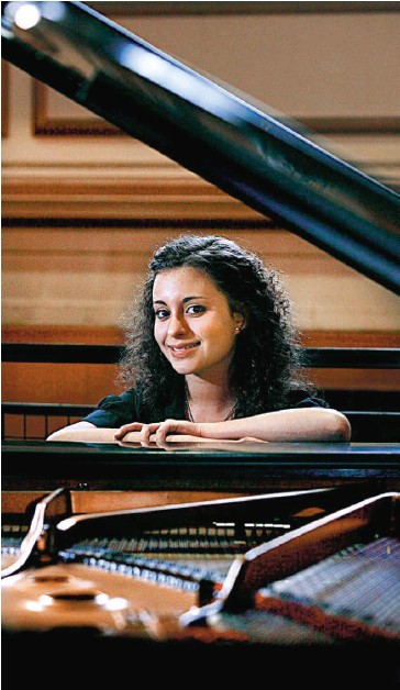 ??  ?? RIGHT NOTE: Sarah Ayoub, from Douglas Academy of Music, came third in Romantic Piano Solos at the Woodside Halls during the Glasgow Music Festival. Picture: Martin Shields