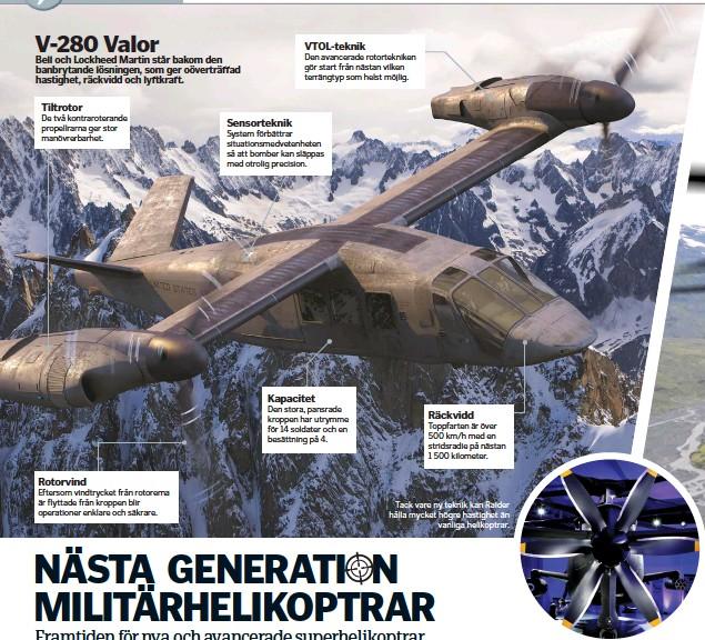 ??  ?? Tack vare ny teknik kan Raider hålla mycket högre hastighet än vanliga helikoptrar.