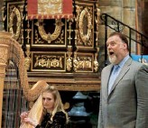 ??  ?? From top Terfel was knighted by the Queen in 2017; performing accompanied by Stone in 2019