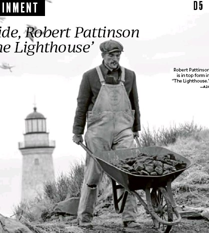 """?? —A24 ?? Robert Pattinson is in top form in """"The Lighthouse."""""""