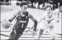 ?? THE ASSOCIATED PRESS ?? JamesMadison guard Matt Lewis, the CAA preseason player of the year, averages 21.2 points and 5.8 rebounds.