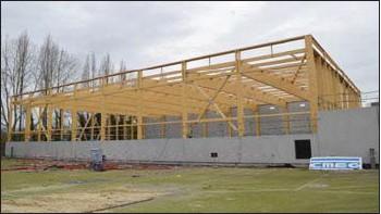 ??  ?? Le nouveau gymnase du quartier Saint-Jean Eudes devrait être opérationnel d'ici la mi-2021. Il sera doté d'une tribune de 500 places.