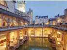 ??  ?? Visit the Roman baths in Bath