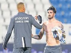 ??  ?? De Paul, tras un partido con el Udinese.