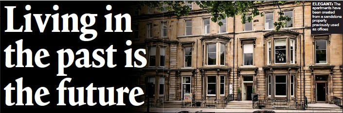 ??  ?? ElEgant: The apartments have been created from a sandstone property previously used as offices
