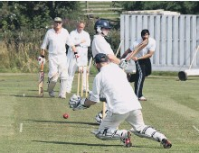 ??  ?? Action from last season's DVL Division B clash between Scalby 3rds and Ravenscar 2nds