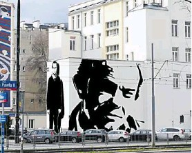 ?? FOT. WOLSKIE CENTRUM KULTURY ?? • Widok na mural z al. Jana Pawła II