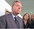 """?? J. SCOTT APPLEWHITE / AP ?? Sen. Lindsey Graham, R-S.C., normally a strong supporter of President Donald Trump, called the Syria decision """"irresponsible."""""""