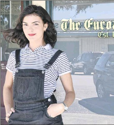 ??  ?? NEW IN TOWN: Clemence Carayol is happy to be working at The Euroa Gazette.