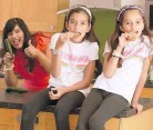 ??  ?? HOME BODIES Sheena, Sienna and Isla are making the most of lockdown