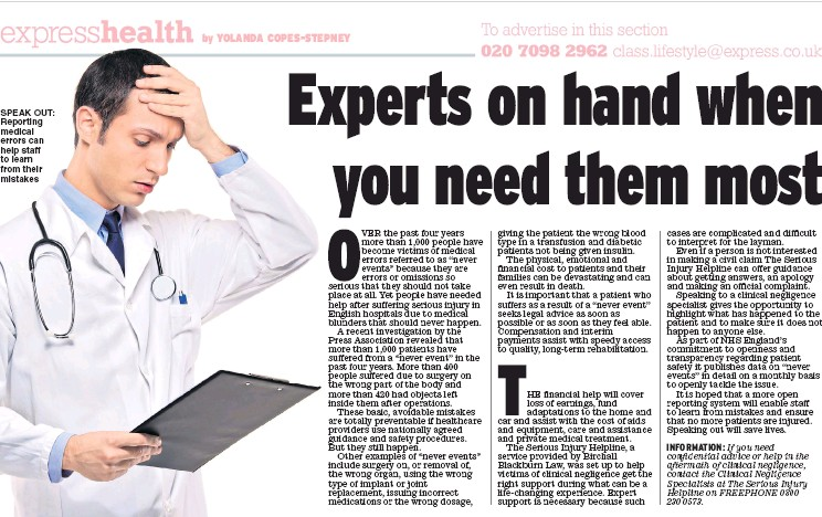 ??  ?? SPEAK OUT: Reporting medical errors can help staff to learn from their mistakes
