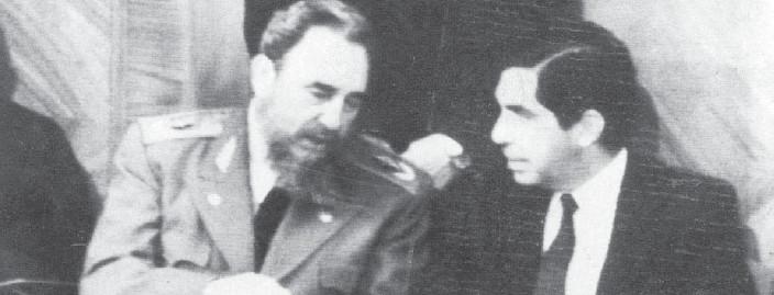 ?? ARCHIVO LN ?? Fidel Castro y Óscar Arias conversaron el 10 de agosto de 1988 en la toma de posesión de Rodrigo Borja, en Ecuador. En el 2009, Arias restableció relaciones con Cuba.