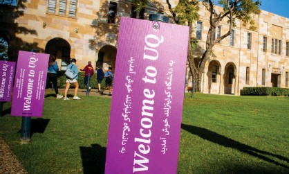 ?? Photograph: Patrick Hamilton/AFP/Getty Images ?? University of Queensland warns international student enrolments are expected to decline if Australia's border remains closed.
