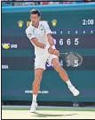 ??  ?? Novak Djokovic.