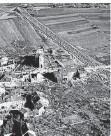 ?? FOTO: W.KÖCK ?? Das zerstörte Tettingen mit Höckerlinie im Juli 1945.